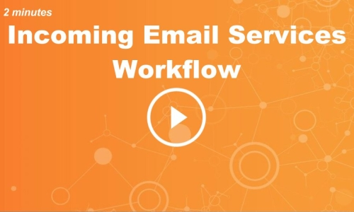 Incoming Email Services: Workflow